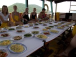 Lunch on the snorkeling tour.