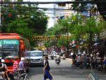 Lively street in District 1, Saigon, Vietnam