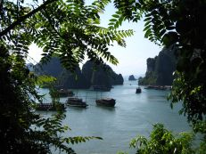 "Halong Bay from the ""Amazing Cave"""