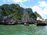 View from the boat as we sailed to the climbing location