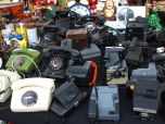 Cameras and Phones (not cameraphones) at the Fleamarket