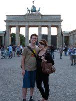 Us in front of Brandenburg Gate