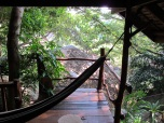 Our deck and hammock!