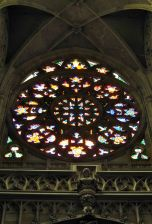 The Rose Window in St. Vitus' Cathedral, Prague