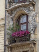 Art nouveau styled windowbox, Prague