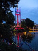 Views of the lake, gardens and rides at Tivoli