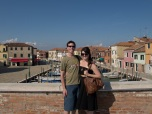 Eric and I on a bridge in Murano