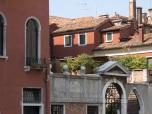 Close up view of the scene, canal by Campo di S.S. Giovanni e Paolo, Venice