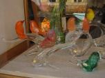 Murano glass lovebirds
