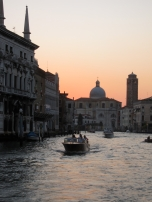 Sunset over the Grande Canal, Venice