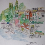 My sketch of Varenna over lunch