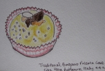 My little drawing of Bergamo Polenta Cake!