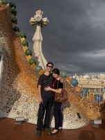 Stormy weather on the roof of Casa Batilo