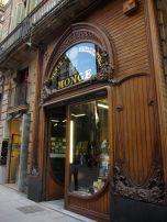 Art Nouveau door in Barri Gotic