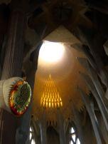 Above the altar at the Sagrada Familia