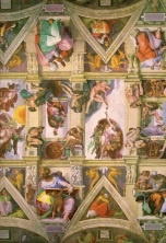 Section of the ceiling in the Sistine Chapel