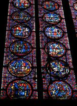 Close up of the stained glass windows at Sainte Chapelle
