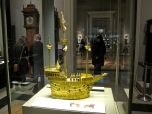 Crazy gold boat, that is actually a clock!!