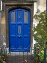 Striking blue door in Oxford