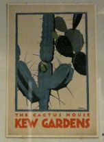 Poster advertising Kew Gardens in London-love this print!