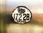 This is the badge the Carriage Drivers had to have fastened to their chariot.