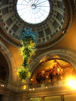 Dale Chihuly's Chandelier in the rotund of the V&A