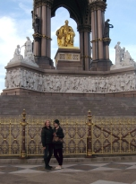 Mom and I in front of the Albert Memorial