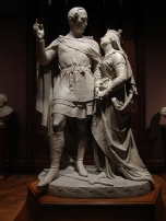 Statue of Prince Albert and Queen Victoria at the National Portrait Gallery