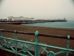 Brighton Pier from the Seafoam Railing