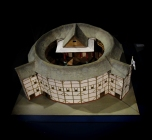Replica Model of the Old Globe Theatre