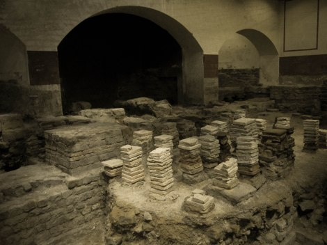 Original foundation from the Steam Room during Roman Era
