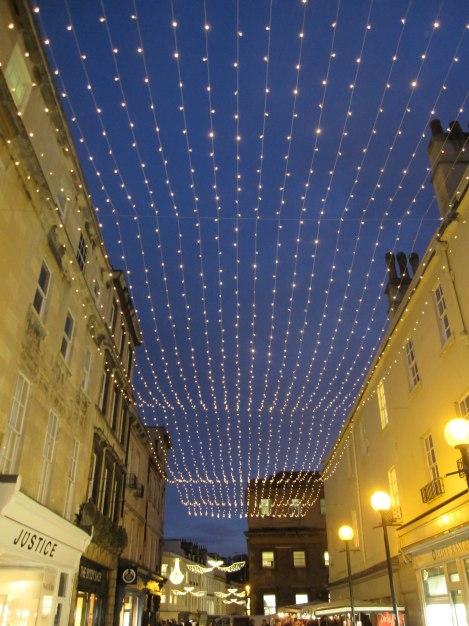 Christmas lights in Bath