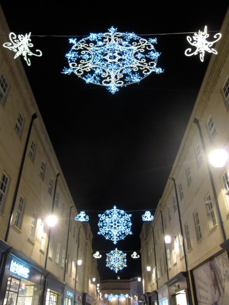 Christmas Snowflakes in Bath