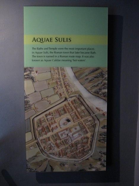 Map envisioning Aquae Sulis during Roman Era